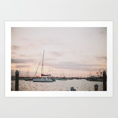 Balboa Sunset Art Print