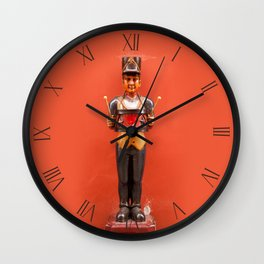 Carved drummer figurine decoration Wall Clock