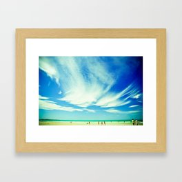 day at the beach Framed Art Print