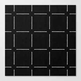 Block Print Simple Squares Canvas Print