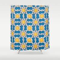 morocco Shower Curtains featuring Morocco ornament by Galina Khabarova