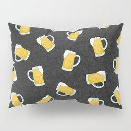 Artsy Modern Yellow Black Watercolor Beer Steins Pillow Sham