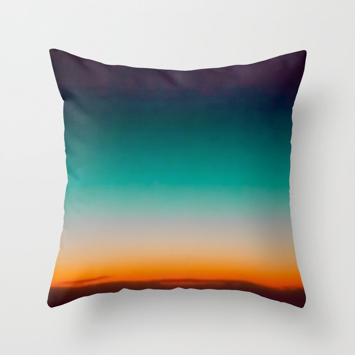 Blue and Yellow Magic Dawn in the Sky Throw Pillow