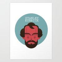 stanley kubrick Art Prints featuring STANLEY KUBRICK by Gerardo Lisanti