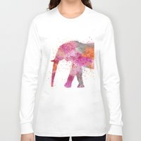 artsy Long Sleeve T-shirts featuring Artsy Elephant by LebensART