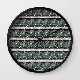 Mt Taranaki/Manukau Stamp Collage Wall Clock