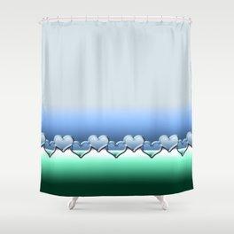 Heart lenses pattern Shower Curtain