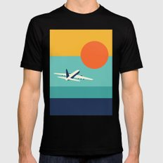 Fly Away MEDIUM Black Mens Fitted Tee
