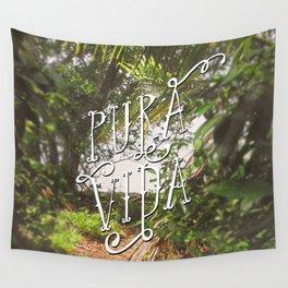 Pura Vida Costa Rica Jungle Life Caribbean Type Wall Tapestry