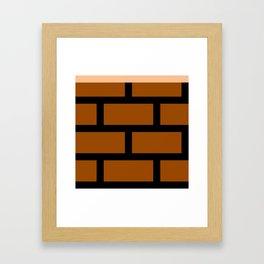8-Bits & Pieces - Bricks Framed Art Print