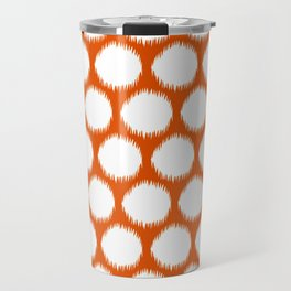 Persimmon Asian Moods Ikat Dots Travel Mug