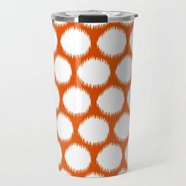 Persimmon Asian Moods Ikat Dots Travel Mug