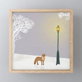 Snow and Lamp   Miharu Shirahata Framed Mini Art Print