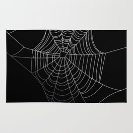 Spider Web Art | Halloween Collection | Spooky | Scary | Vector Art | Black and White Rug