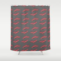 bats Shower Curtains featuring Bats by Natalie Candelaria