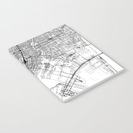 Tokyo White Map Notebook