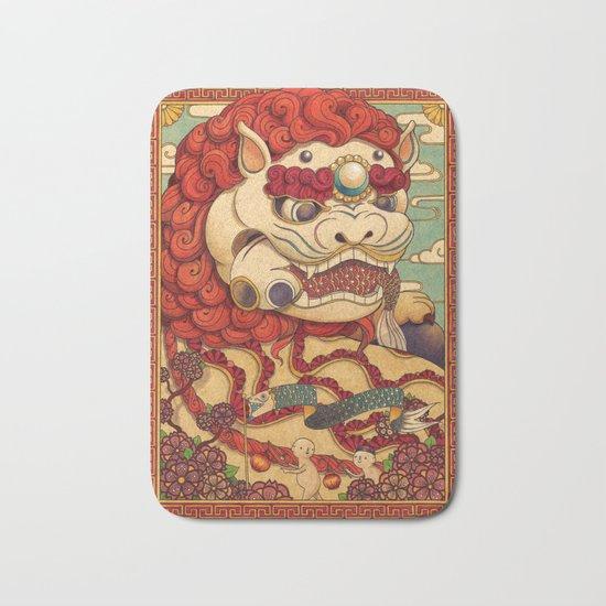 Chinese Lion Bath Mat