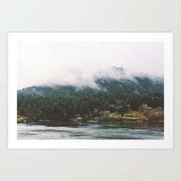 Foggy Vancouver Island, BC Art Print