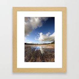 Flooded Fields Framed Art Print