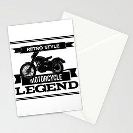 Motorcycle retro legend tshirt logo Stationery Cards