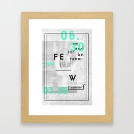 Few And Far Between Framed Art Print