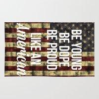 american Area & Throw Rugs featuring American by Karolis Butenas