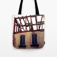 building Tote Bags featuring Building by PerfectPixel