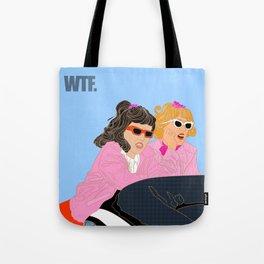 WTF - Grease Movie Vibes Got Me Like - Throwback Fan Digital Art Tote Bag