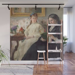 The Mother and Sister of the Artist - Marie-Joséphine & Edma by Berthe Morisot Wall Mural
