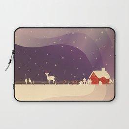Peaceful Snowy Christmas (Plum Purple) Laptop Sleeve