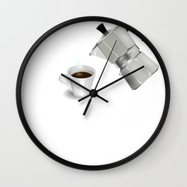 Coffee Drinker It's 7am Somewhere Funny Coffee Lover Gift Wall Clock