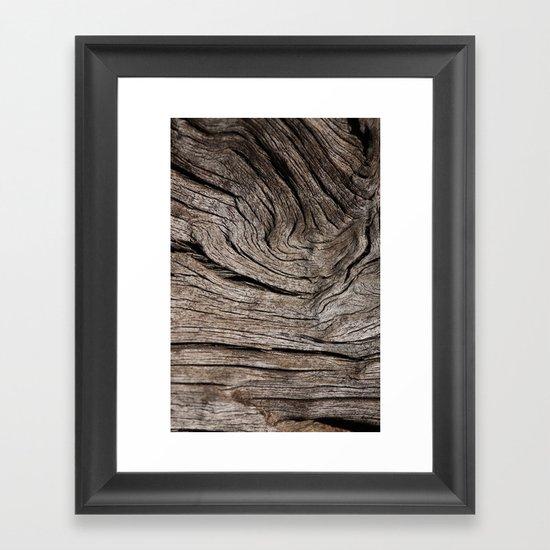 Wood VII Framed Art Print
