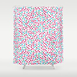 Bright geometric tiny polka dot seamless pattern. Shower Curtain
