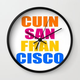 CUIN SAN FRANCISCO Wall Clock