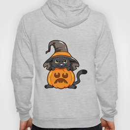 angry kitty Halloween Cat Witch present gift Hoody