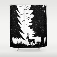 woodland Shower Curtains featuring Woodland by Philip McCulloch-Downs