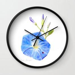 Morning Glory and the Ladybug by Teresa Thompson Wall Clock
