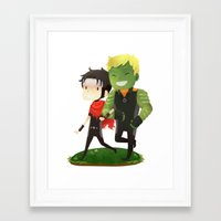 young avengers Framed Art Prints featuring Young Avengers by Tae V
