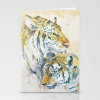 tigers Stationery Cards featuring Tigers by Sasita Samarnpharb