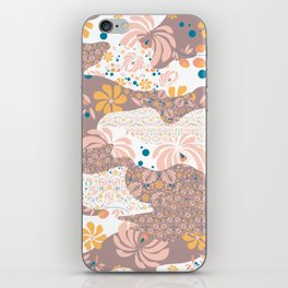 Peachy Floral Camo iPhone Skin