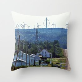 Turbine Hill Throw Pillow