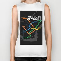 montreal Biker Tanks featuring Montreal Metro by Coconuts & Shrimps