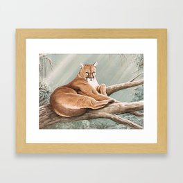 Don Corle-Cougar Framed Art Print