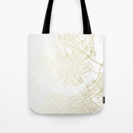 Wilkes-Barre Gold and White Map Tote Bag