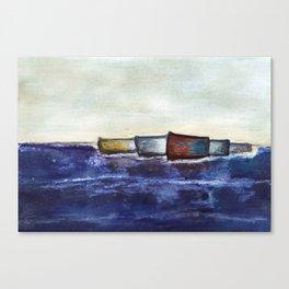 like boats we sway Canvas Print