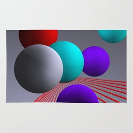 converging lines and balls -2- Rug