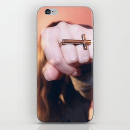 cross ring iPhone Skin
