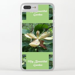 Garden _White Magnolia in May Clear iPhone Case