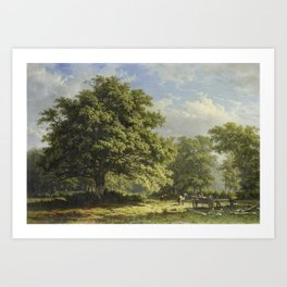 View in the Bentheim Forest by George Andries Roth Art Print