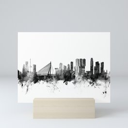 Rotterdam The Netherlands Skyline Mini Art Print